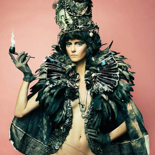 Garbage reign, photography by Danil Golovkin  A colourful fashion photography project that creates glamour out of garbage.