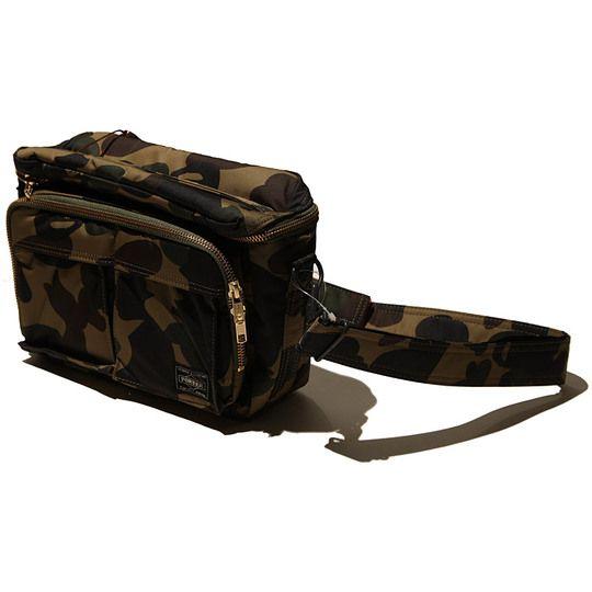 Bape x porter 1st camo camera bag military bag camo for Bape x porter backpack