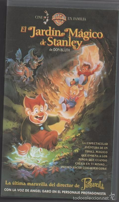 PELÍCULA VÍDEO VHS EL JARDÍN MÁGICO DE STANLEY, S.A. WALT DISNEY (CINE INFANTIL-DIBUJOS ANIMADOS)