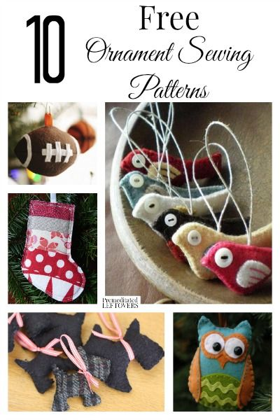 Are you making your holidays a handmade one? Here are 10 free ornament sewing patterns to get you started on your way!