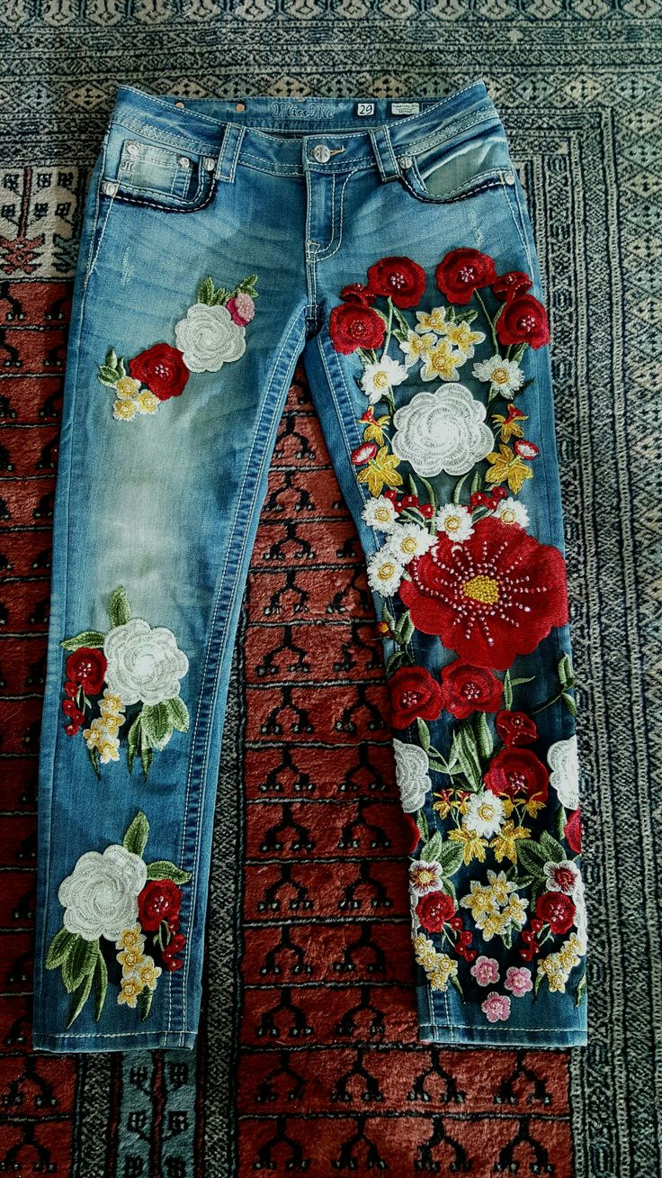 Luxury Embroidered Jeans by MISS G