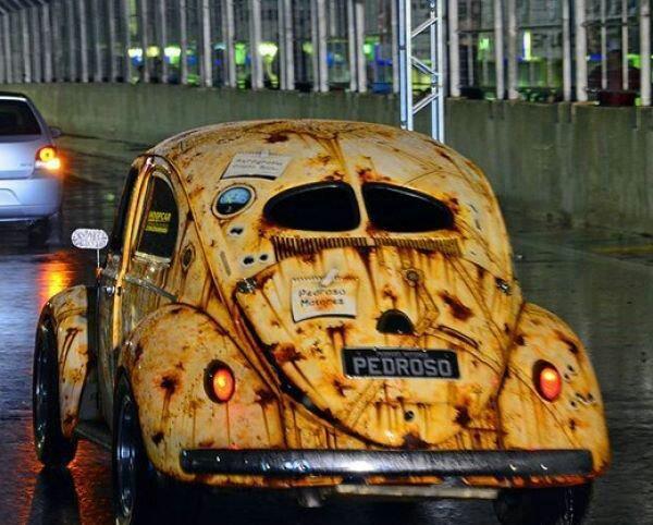 pedroso  cool paint job rust bucket  vw art cars vw beetles und volkswagen
