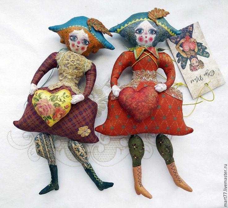 """Купить """" Щелкунчик и Коломбина"""" - разноцветный, щелкунчик, коломбина, игрушки ручной работы, коллекционная кукла"""