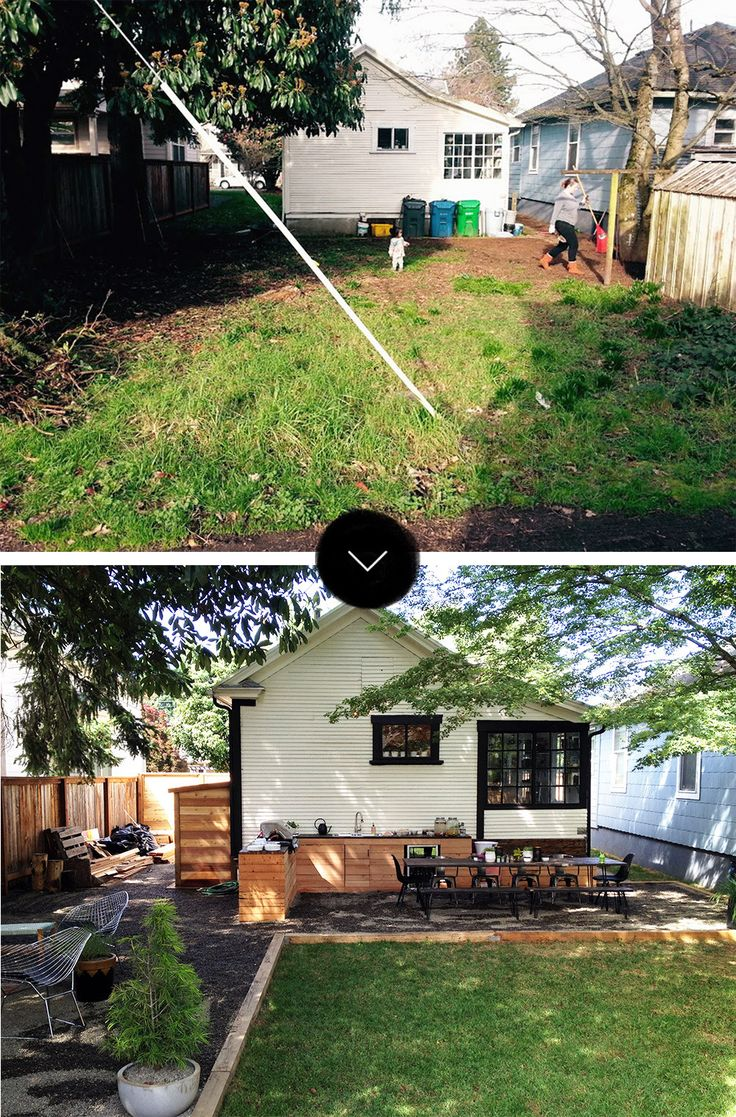 Before & After: The Little NoPo Farmhouse Yard | Design*Sponge