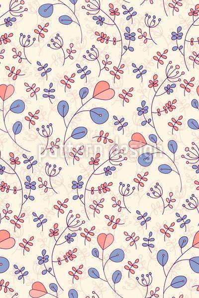 Botanical cute Branches Pattern Design Pattern Design by Elena Alimpieva at patterndesigns.com