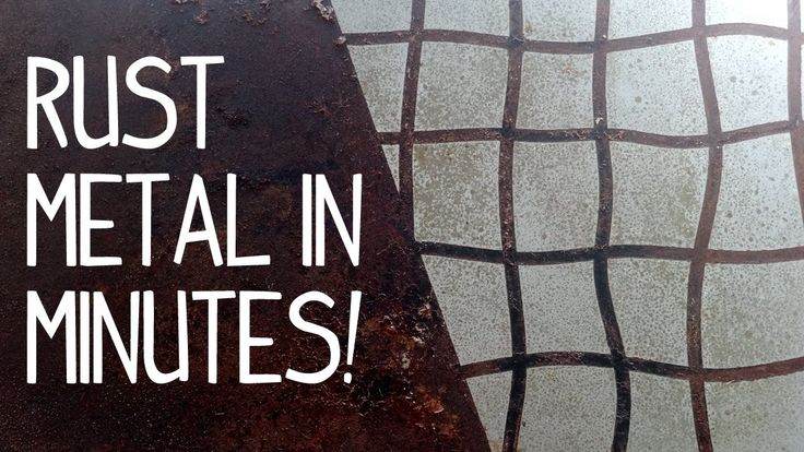 Check out this really simple way to quickly rust metal (iron) to get an awesome, aged patina. You only need three household ingredients: hydrogen peroxide, r...