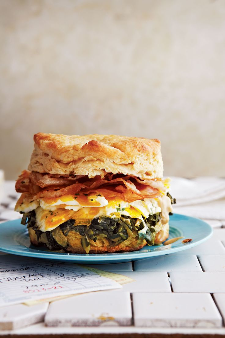 Alvin Cailan of Los Angeles' cultish Eggslut goes pancetta-crazy in this sandwich, using eight slices on top of his gorgeously marbleized egg and cooking the collard greens in pancetta fat.