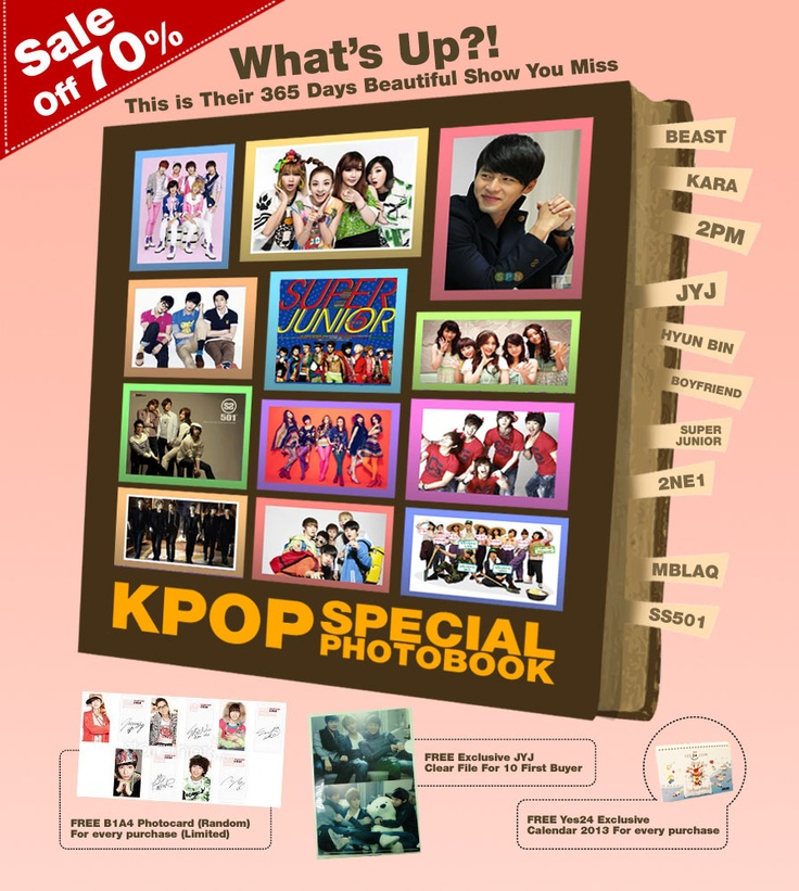 Yes24 Indonesia - SALE OFF 70% Kpop Photobook www.yes24.co.id/SpecialEvents/482920?cid=pinterest