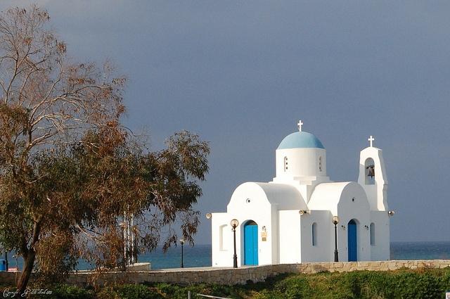 Church at Pernera near Protaras in Cyprus by Holfo, via Flickr