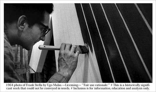 ストライプを描く制作時のステラ