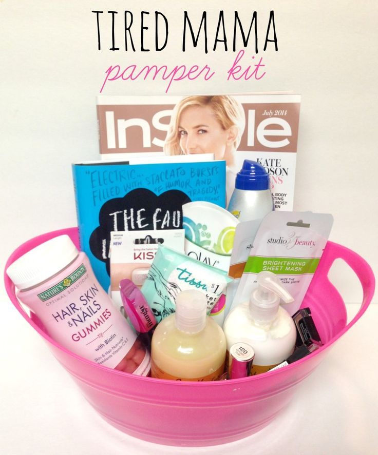 Tired Mama Pamper Kit gift ideas, which would be great for mother's day gift or a new mommy! - mommylikewhoa.com