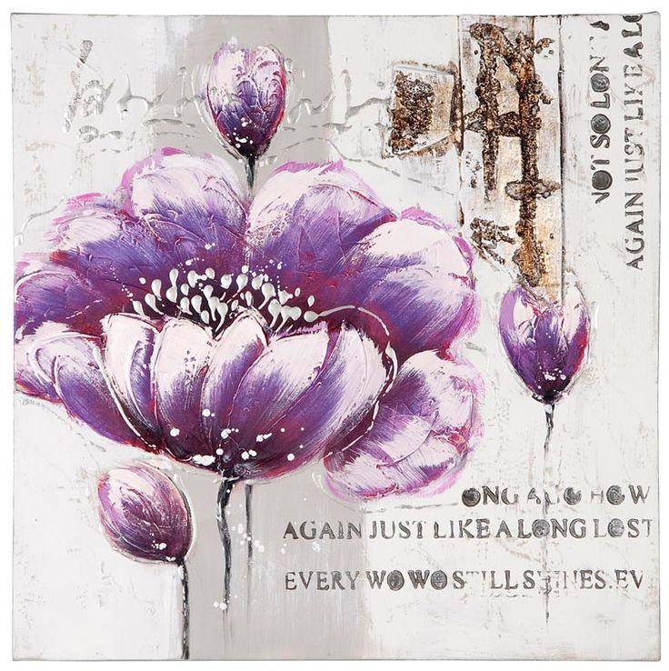 Olieverf schilderij Bloem #leenbakker