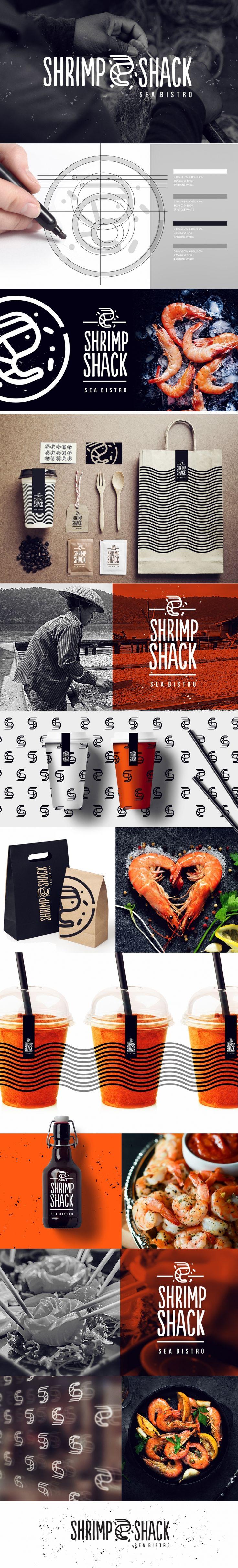 Shrimp Shack Bistro Branding by Zuzanna Sadlik | Fivestar Branding Agency – Design and Branding Agency & Curated Inspiration Gallery #restaurant #restaurantbranding #restaurantdesign #branding #brand #brandinginspiration #branddesign #package #packaging #foodpackaging #design #behance #pinterest #dribbble #fivestarbranding
