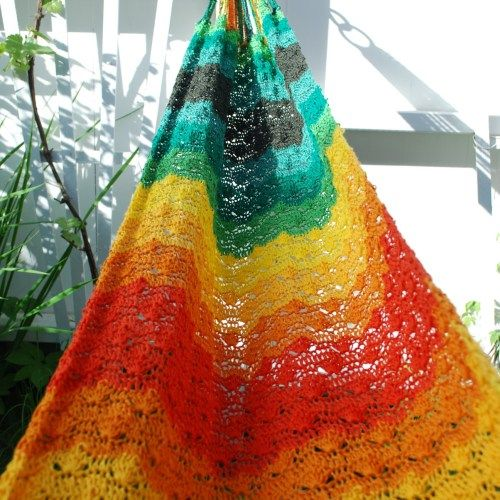 Crochet hammock for child or baby