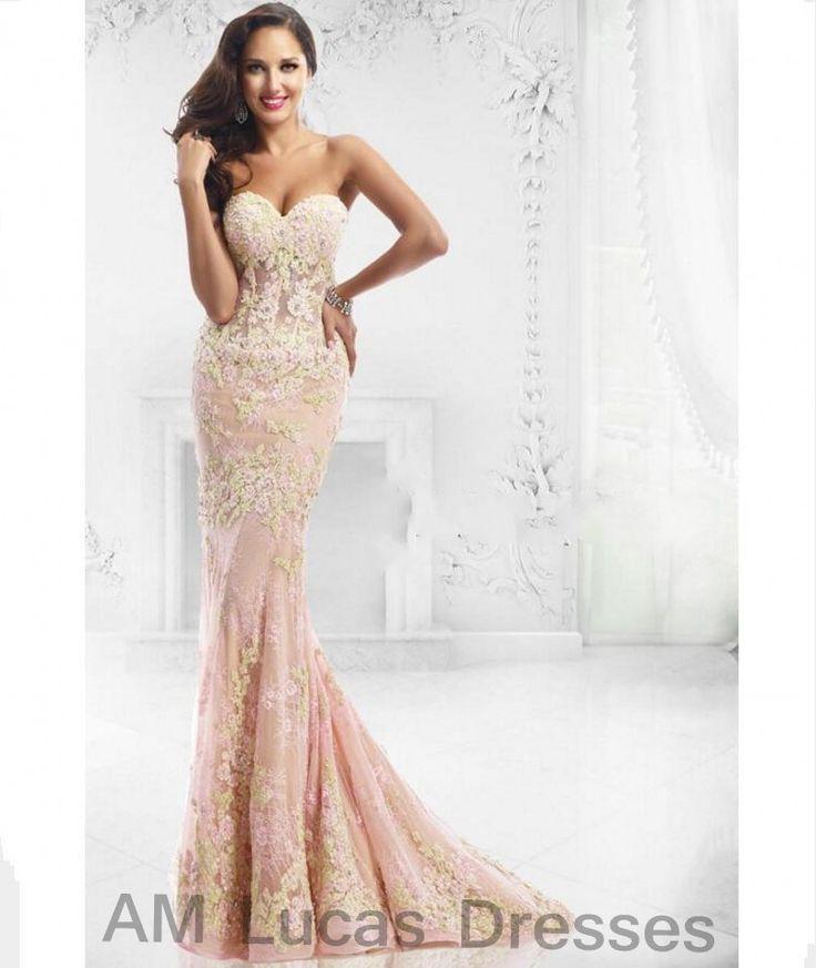 Luxus Meerjungfrau Abendkleider Herzförmiger ausschnitt 2016 Appliques Formale Abendkleider Für Partei Prom Dresses Prinzessin Stile //Price: $US $144.48 & FREE Shipping //     #abendkleider