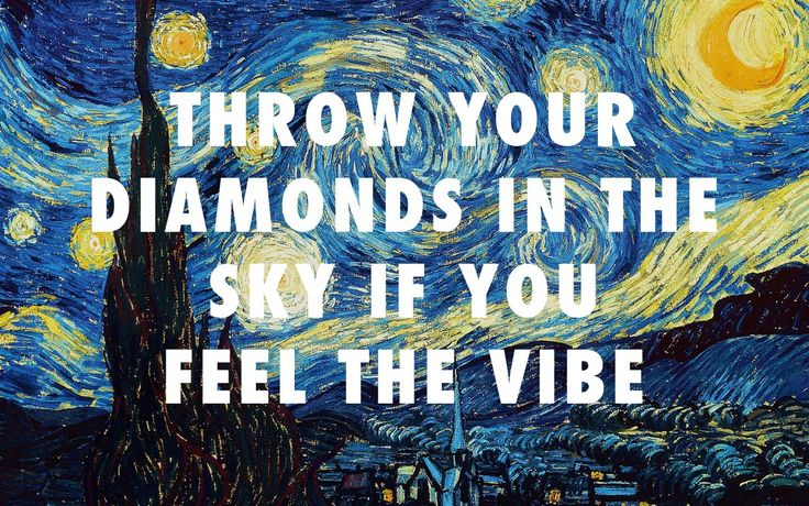 flyartproductions:  The starry night of Sierra Leone The Starry Night (1889), Vincent van Gogh / Diamonds From Sierra Leone, Kanye West