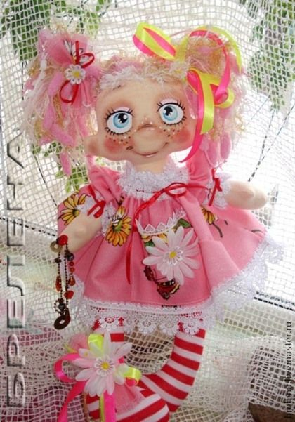 Сказочные персонажи ручной работы. Ярмарка Мастеров - ручная работа Текстильная  кукла Фея  розовой мечты. Handmade.