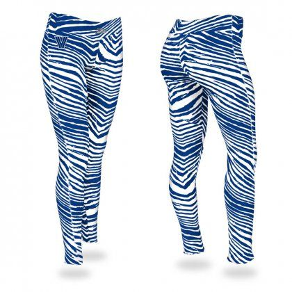 Villanova University Royal Blue Zebra Legging | Zubaz Store