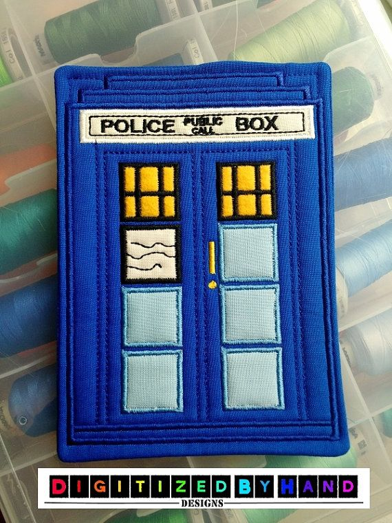 ITH Tardis Embroidery Design Dr Who Embroidery By