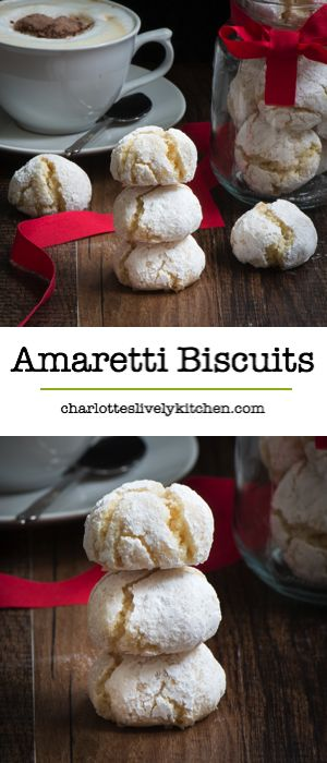 Delicious soft centred Amaretti biscuits. So easy to make, crisp on the outside and chewy in the middle and they're naturally gluten-free too.