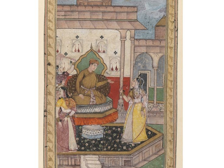 23 best 16th century indianmughal costume images on pinterest court scene indian opaque watercolor on paper late 16th century mughal sheet 6 34 x 4 38 in 171 x 111 cm image 6 x 3 1516 in sciox Choice Image