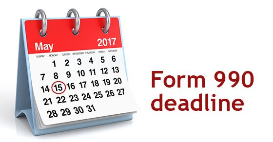 "Form 990 deadline is rapidly approaching for not-for-profits. In an Information Release, the IRS reminds tax-exempt organizations to file Form 990, ""Return of Organization Exempt From Income Tax,"" by May 15, 2017, or risk having their federal tax-exempt status revoked. By law, both the IRS and most tax-exempts are required to publicly disclose most parts of form filings. So, the IRS cautions nonprofits NOT to include Social Security numbers or other unneeded personal information on their…"