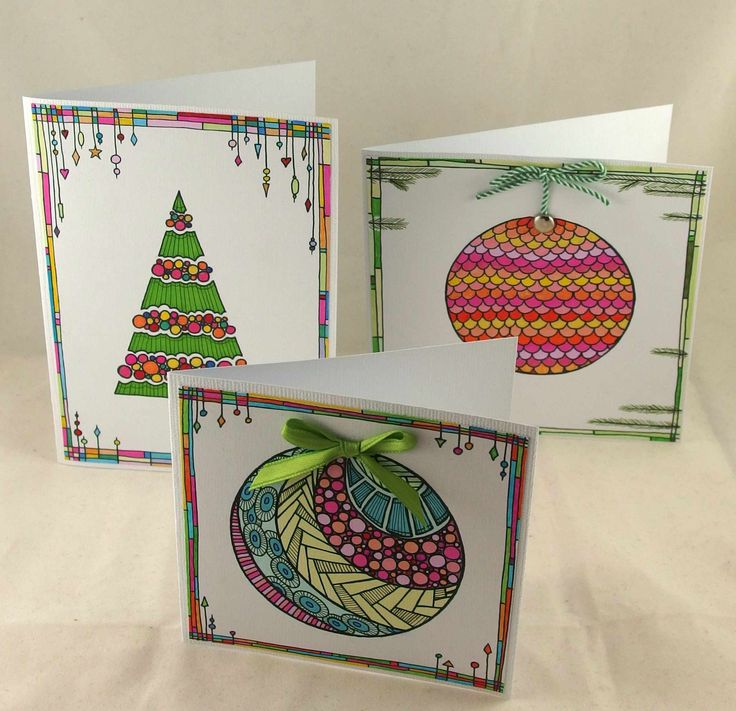 Doodling christmas cards. #christmas tree, #doodling #dangles