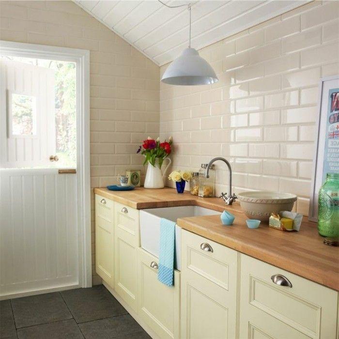 Küche streichen – 60 Vorschläge, wie Sie eine cremefarbene Küche gestalten creme graue  ...