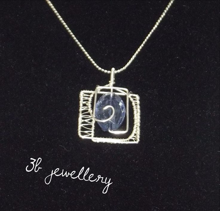 #blue tones and simple #pendant #3bjewellery #wirewrapping #beginner
