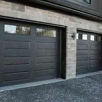 Image result for black garage doors