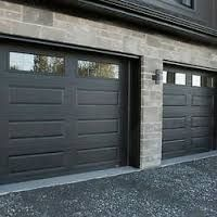 Image result for black garage doors