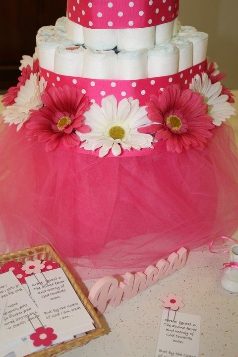 Hoity toity crafts diy diaper cake stand made out of for Diaper crafts for baby shower
