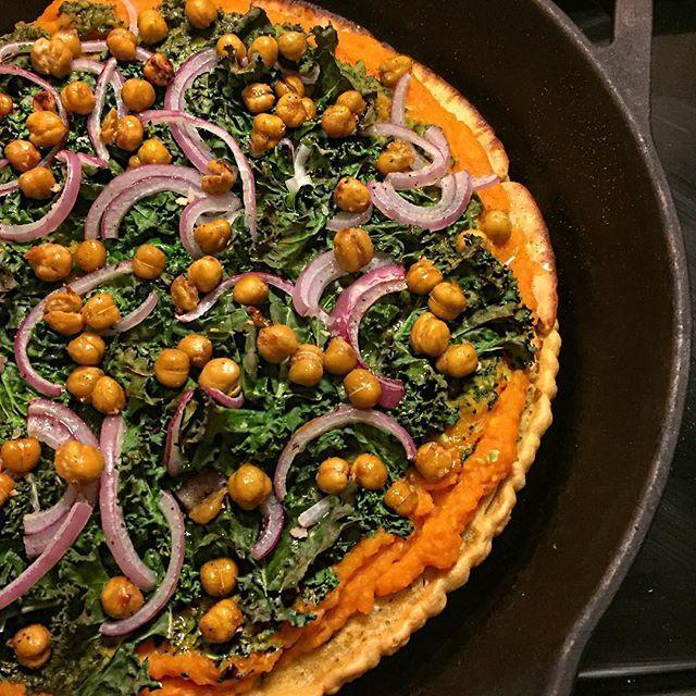 ... Kale+Socca+Pizza   What To Cook   Pinterest   Butternut Squash, Kale