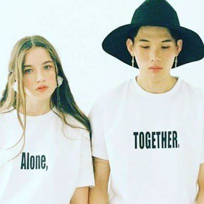 """""""Alone"""" """"Together""""  Who are they to judge.  #boy #girl #couple #9 #tee"""