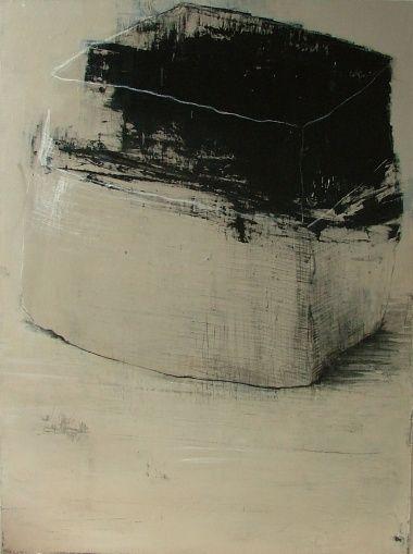 'Pavé N°2' by French artist Françoise Danel. Oil on canvas, 130 x 97 cm. via Galerie GNG on art Karlsruhe