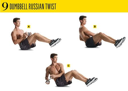 Russian twists with dumbbell - YouTube  |Russian Twist With Dumbbell