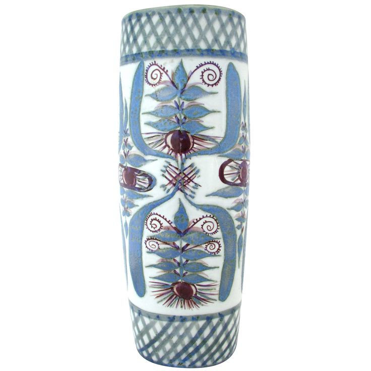 Signed Mary Johnson Tall Royal Copenhagen Vase