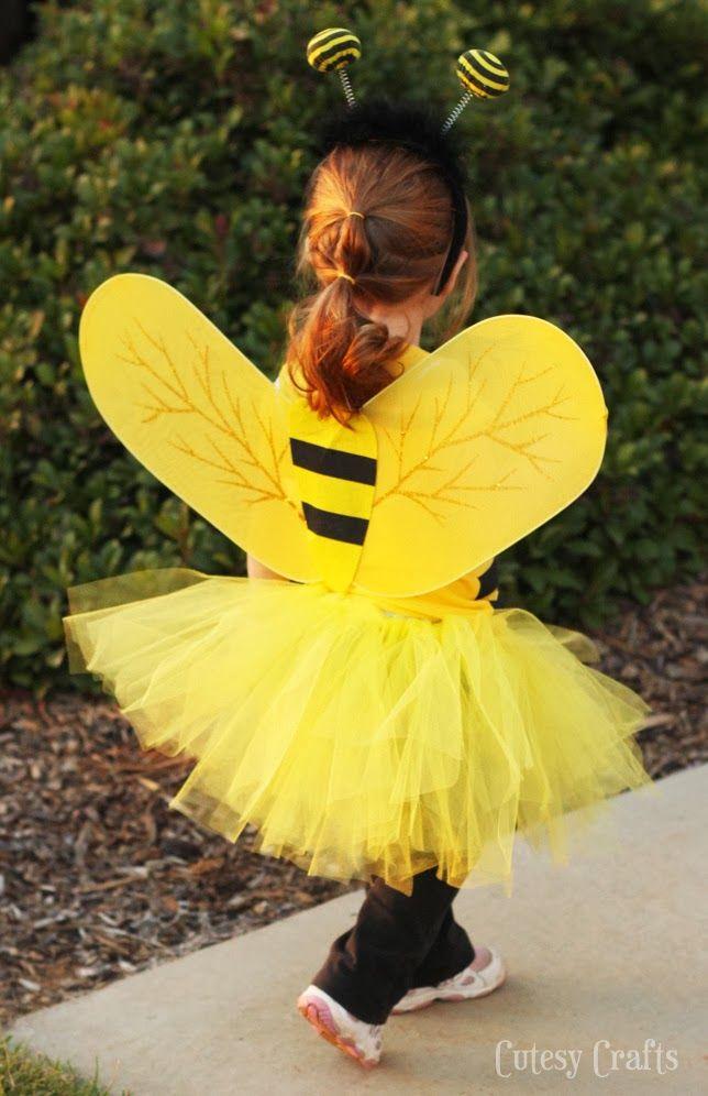 DIY Bee Costume -- love the yellow tutu
