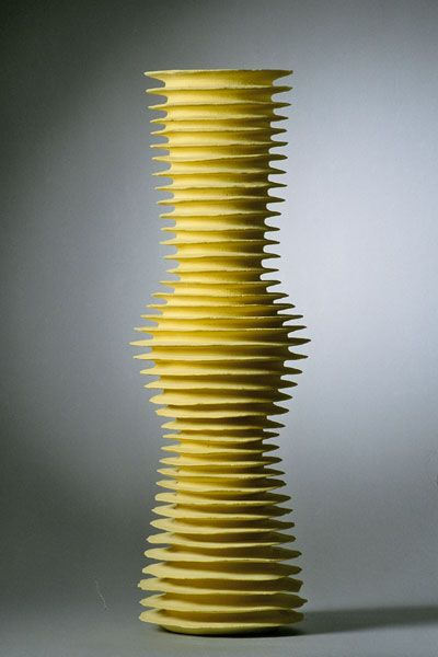 Untitled by Copenhagen-based Italian ceramic artist Sandra Davolio (b.1951). 68 x 18 cm. via the artist's site