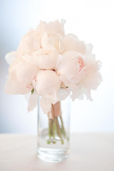 Blush peonies have to be the most romantic bridal bouquet ever!