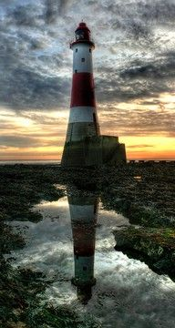 Belle Toute Lighthouse, Beachy Head, Eastbourne, East Sussex