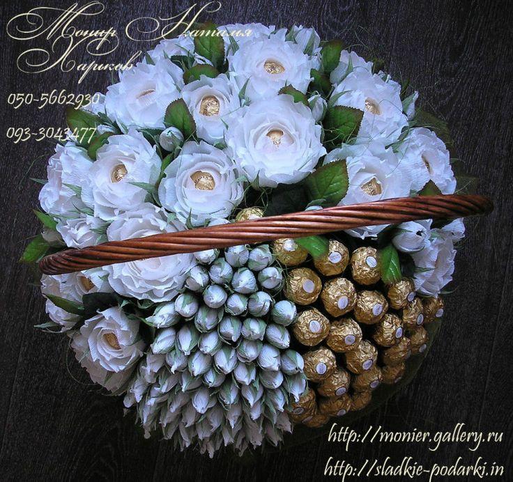 Gallery.ru / Фото #23 - Корзины с цветами и конфетами 400-1000 грн. - monier
