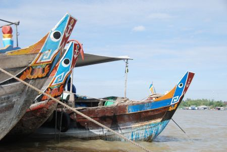 Vietnam. Boottocht bij Chau Doc op de Mekong Delta