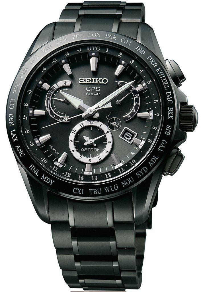 Seiko Astron Watch GPS Solar Dual Time Titanium #basel-15 #bezel-fixed…
