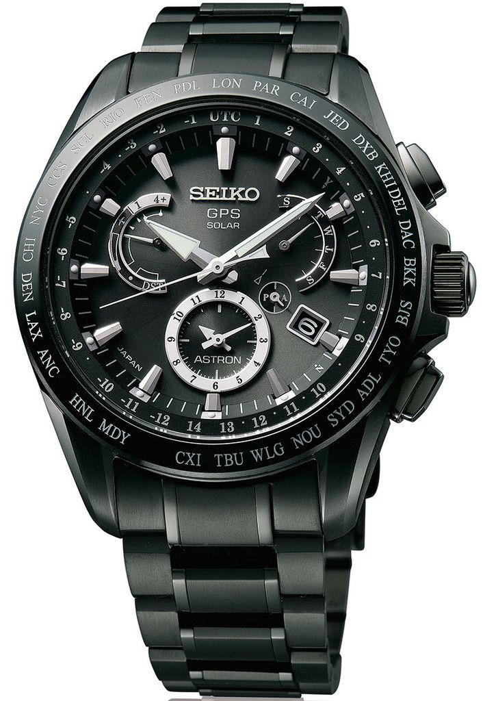 Seiko Astron Watch GPS Solar Dual Time Titanium #basel-15 #bezel-fixed…