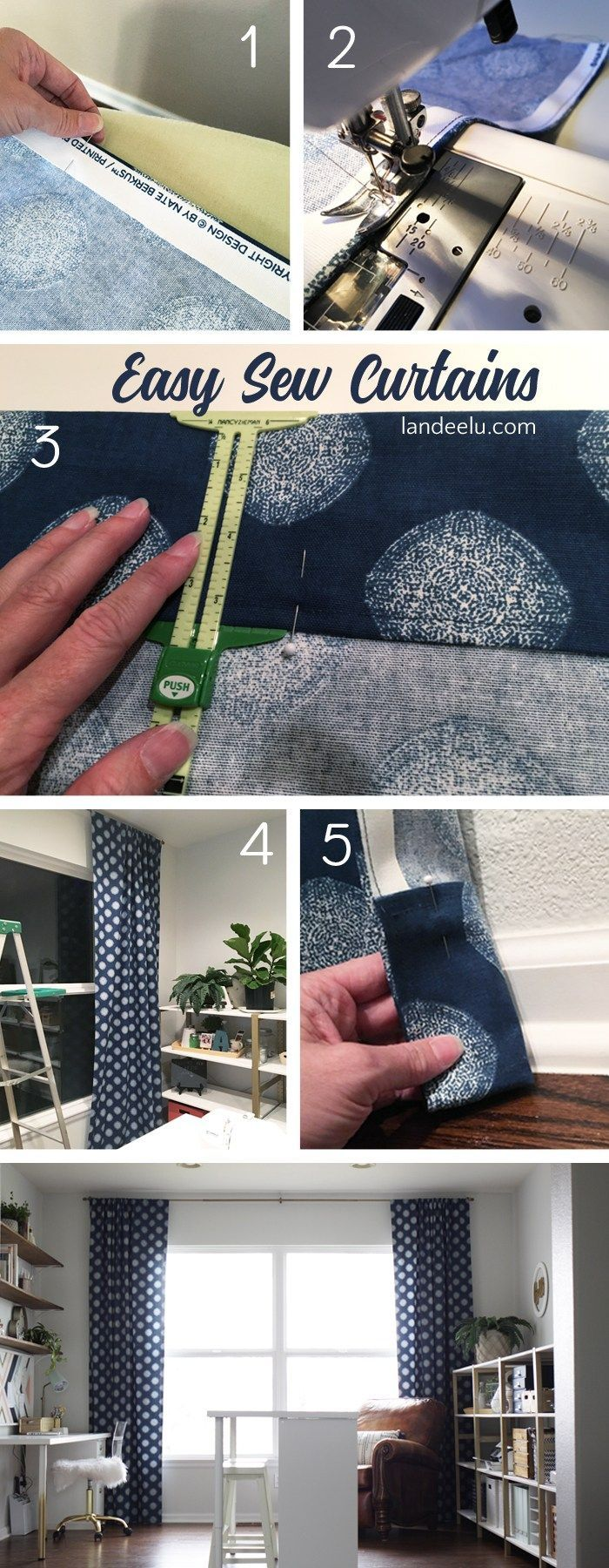 Easy Sew Curtains: If I Can Sew These, You Can Too! - landeelu.com
