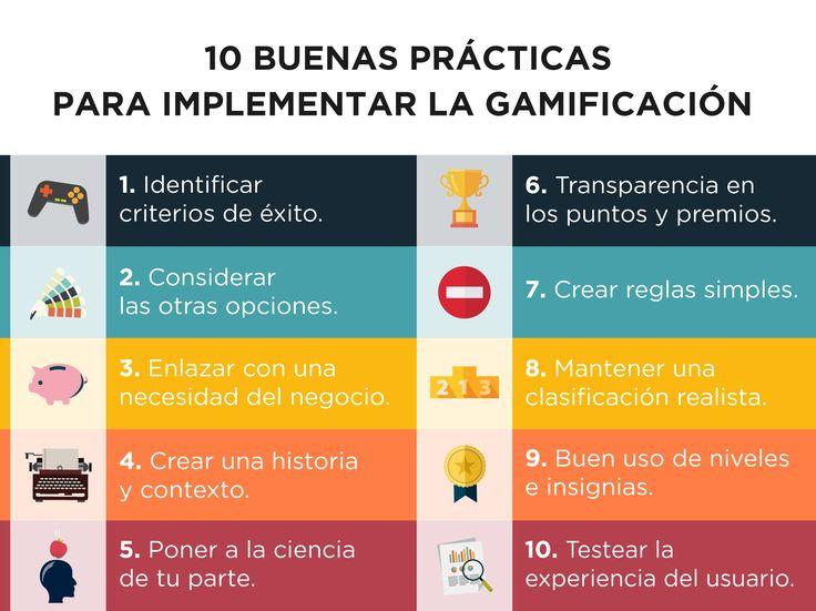 10 buenas prácticas para implementar la gamificación