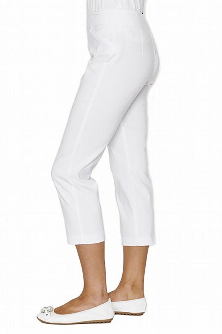 Threadz - White Crop Pants - 18025