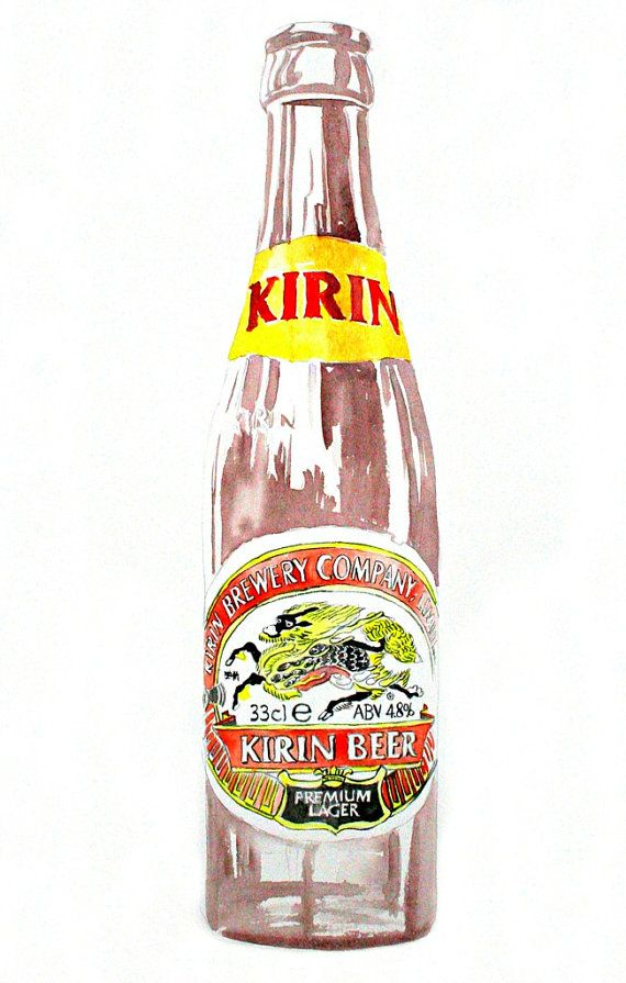 Art Print-KIRIN BEER-From Original Watercolor Painting