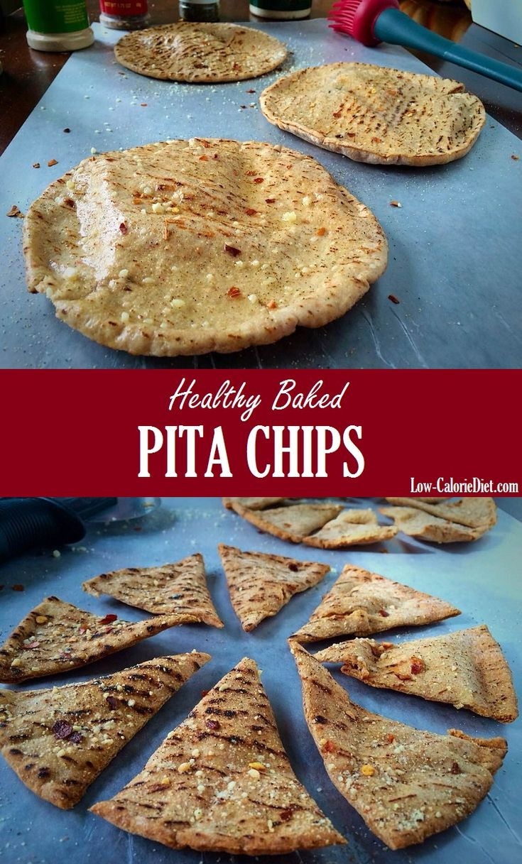 Healthy Baked Pita Chips